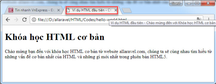 Thẻ title HTML