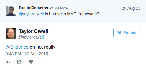 Laravel is MVC?